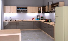 L shaped modular kitchen design